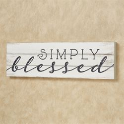 Simply Blessed Wall Plaque Whitewash