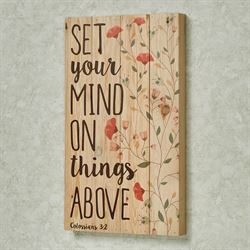 Set Your Mind Wall Plaque Multi Warm