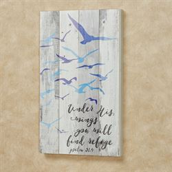 Under His Wings Wall Plaque Multi Cool
