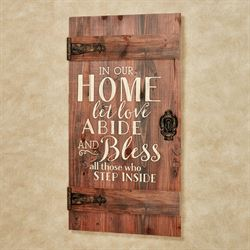 In Our Home Barn Door Wall Plaque Auburn