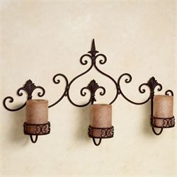Farina Wall Candleholder Rust Brown