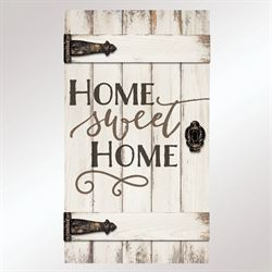 Home Sweet Home Barn Door Wall Plaque Whitewash
