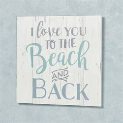 Beach and Back Wall Plaque Whitewash