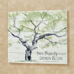 Strength and Love Wall Plaque Whitewash