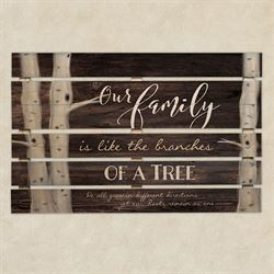 Family Tree Slatted Wall Plaque Brown