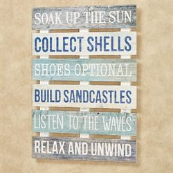 Soak Up the Sun Wall Plaque Multi Cool