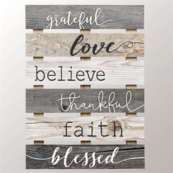 Grateful Wall Plaque Multi Cool