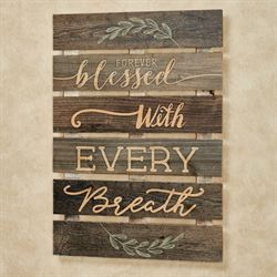 Forever Blessed Wall Plaque Brown