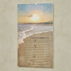 Footprints Wall Art Plaque Multi Cool