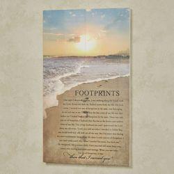 Footprints Wall Art Plaque Multi Cool