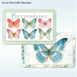 Rainbow Butterflies Placemats Multi Bright Set of Four