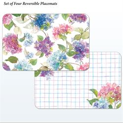 Multi Hydrangeas Placemats Multi Warm Set of Four