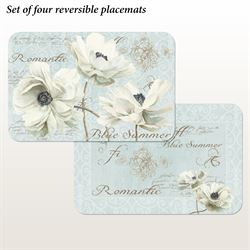 Blue Summer Placemats Multi Cool Set of Four