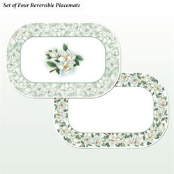 Magnolia Floral Placemats Multi Cool Set of Four