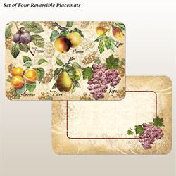 Old World Fruit Placemats Multi Earth Set of Four