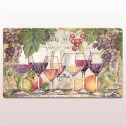 Wine Country Cushioned Floor Mat Multi Warm 30 x 20