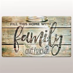 Family Time Cushioned Floor Mat Multi Earth 30 x 20