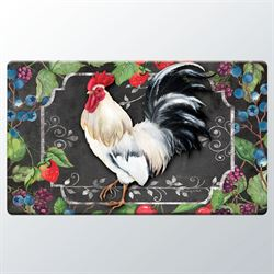 White Rooster Cushioned Floor Mat Multi Warm 30 x 20