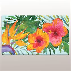 Tropical Paradise Cushioned Floor Mat Multi Bright 30 x 20