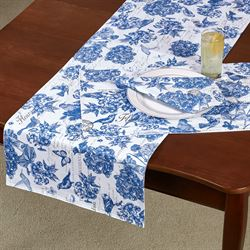 Indigo Cotton Table Runner Blue 16.5 x 60