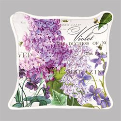 Lilac and Violets Rectangle Accent Pillow Purple 18 x 12