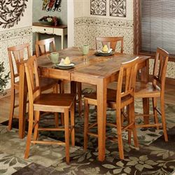 West Albany 7 pc Dining Set Natural Cherry Set of Seven