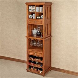 West Albany Wine Cabinet Natural Cherry