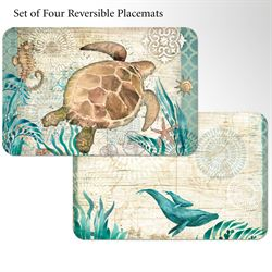 Monterey Bay Placemats Multi Cool Set of Four