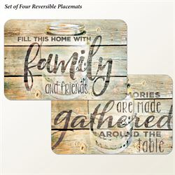 Family Time Placemats Multi Earth Set of Four