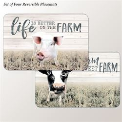 Farm Life Placemats Multi Earth Set of Four