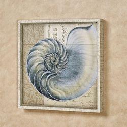 Indigo I Framed Wall Art Sign Blue