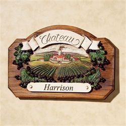 Chateau Wall Plaque Personalized