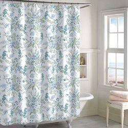 Pearl Seaweed Shower Curtain White 72 x 72