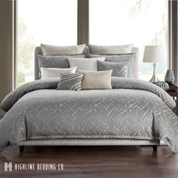Azara Mini Comforter Set Dark Gray
