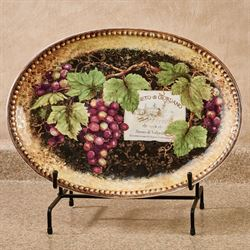 Gilded Wine Oval Serving Platter Multi Earth