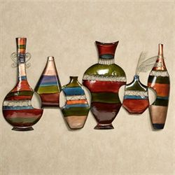 Southwest Vessels Wall Art Multi Earth
