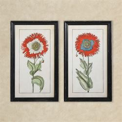 Stewart Framed Floral Wall Art Red Set of Two