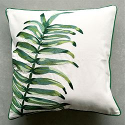 Palm Frond Decorative Pillow Green