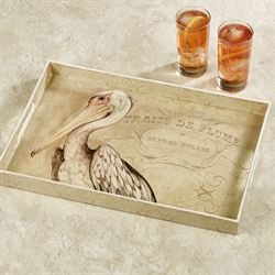 Pelican Decorative Tray Ivory