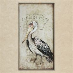 Pelican Framed Canvas Wall Art Ivory