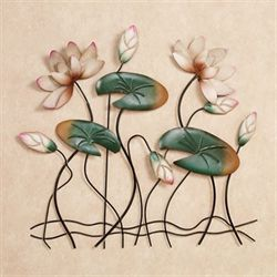 Lotus Lake Blossoms Wall Art Pink
