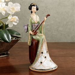 Geisha Tranquility Figurine Green