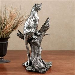 Savannah Sleek Table Sculpture Silver