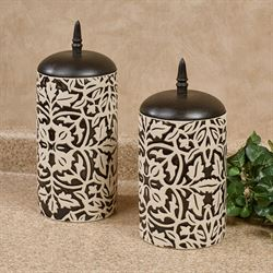 Taman Kitchen Canisters Black Set of Two