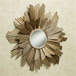 Arlette Mirrored Wall Art Gold
