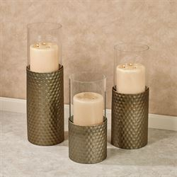 Grandosa Large Candleholders Champagne Gold Set of Three