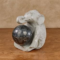 Global Elephant Figurine Gray
