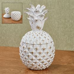 Benavento Pineapple Covered Jar Whitewash