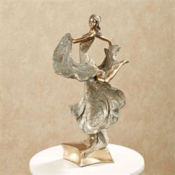 Elegant Motions Figurine Tarnished Gold