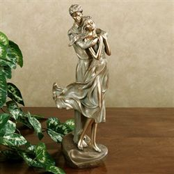 Loves Embrace Figurine Tarnished Gold